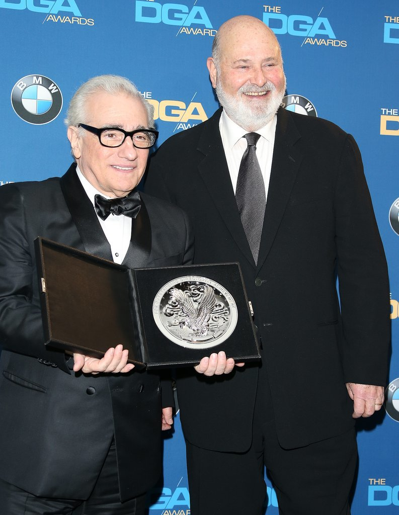 Martin Scorsese posed alongside Rob Reiner.