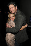 Blake Shelton gave his wife, Miranda Lambert, a big hug after she took the stage at the 2014 MusiCares Person of the Year event.
