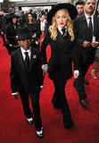 Madonna and her son, David, at the 2014 Grammy Awards.