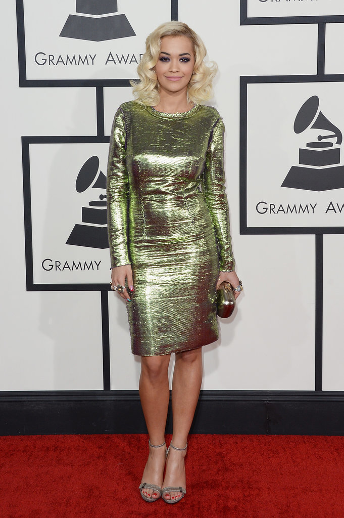 Rita Ora at the Grammys 2014