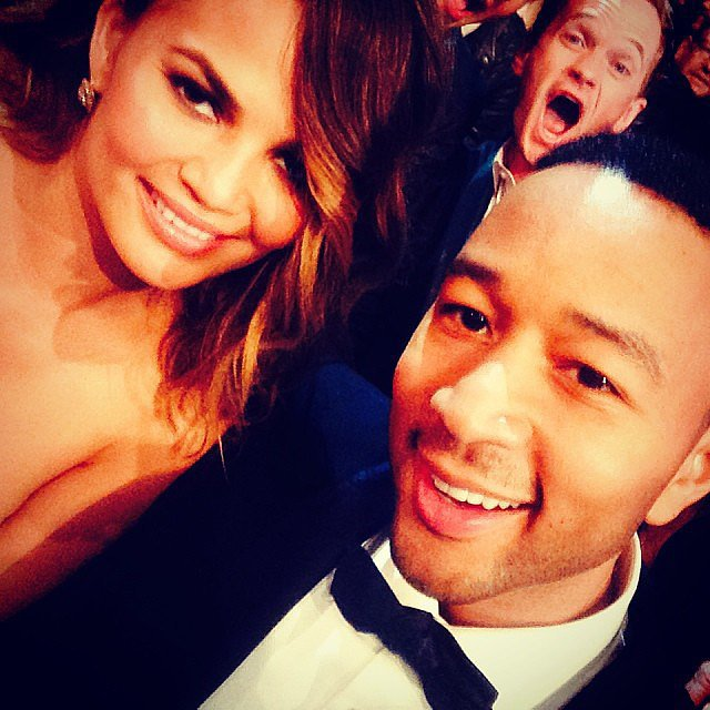 Neil Patrick Harris had an epic photobomb in Chrissy Teigen and John Legend's selfie. Source: Instagram user chrissyteigen