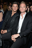 David Burtka and Neil Patrick Harris posed for a picture during the Grammy Awards.