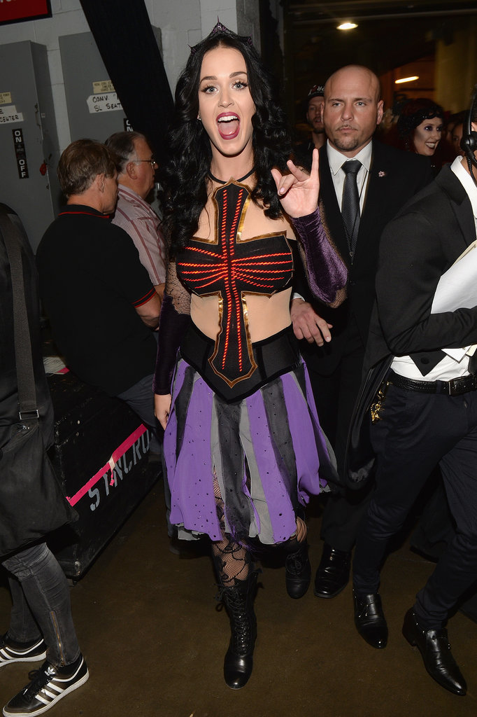 Katy Perry got excited after her performance.