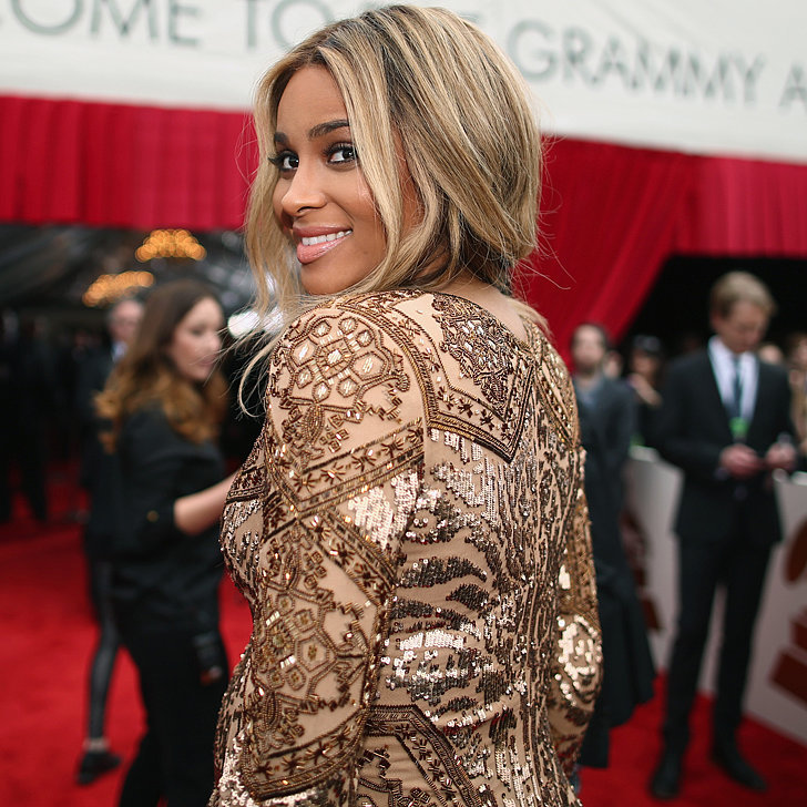 Gold Dress Trend at Grammys 2014
