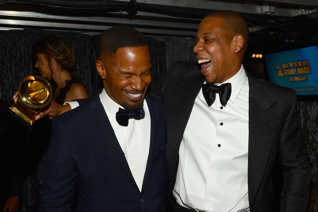 Jamie Foxx cracked up with Jay Z.