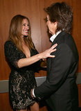 Julia Roberts shared a moment with Paul McCartney.