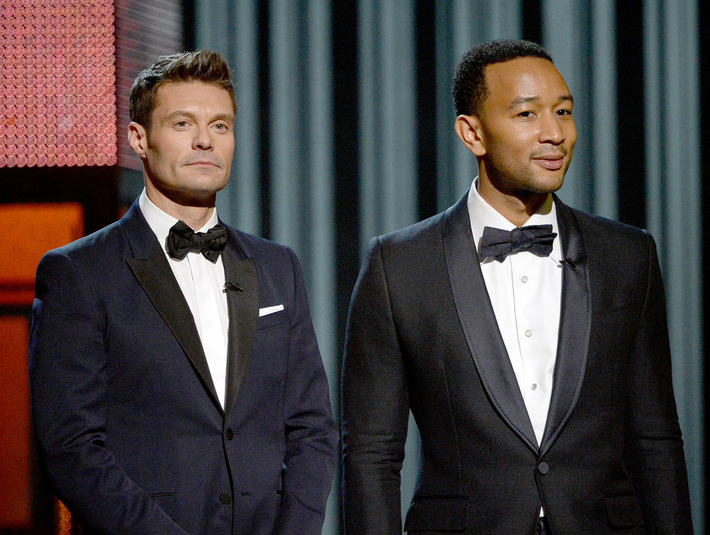 Ryan Seacrest and John Legend looked dapper.