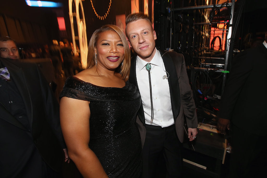 Queen Latifa teamed up with Macklemore backstage.