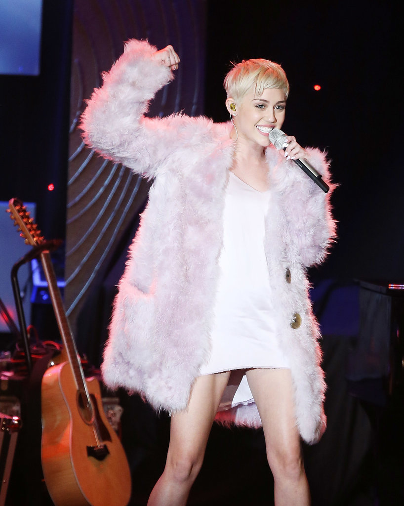 Miley Cyrus at the Pre-Grammys Gala