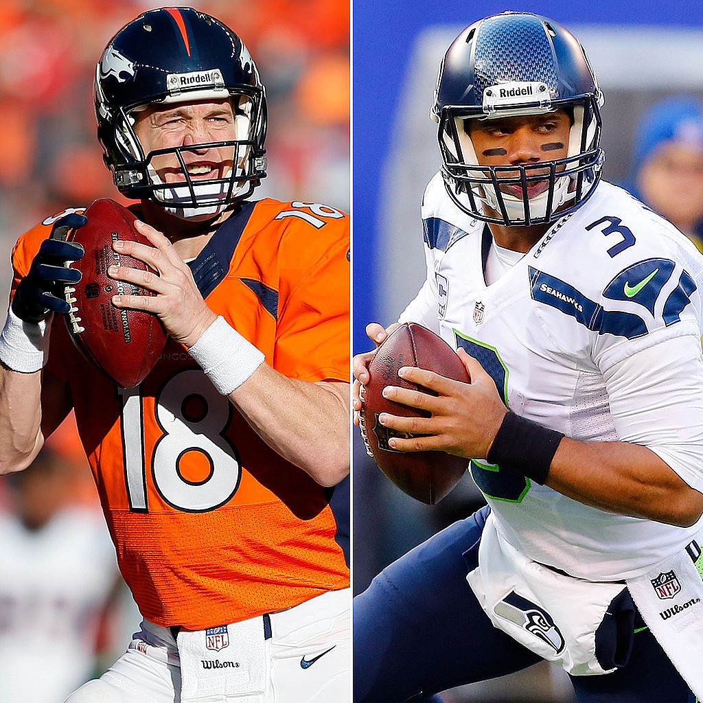 Peyton Manning vs. Russell Wilson — Which Hot QB Gets Your Pick?
