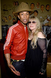 Pharrell Williams (and his hat) had a moment with Stevie Nicks at the Sony party.