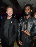 Chris Martin mingled with Gary Clark Jr. at the Warner Music afterparty.