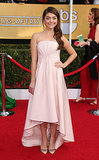 Sarah Hyland at the SAG Awards in Pamella Roland