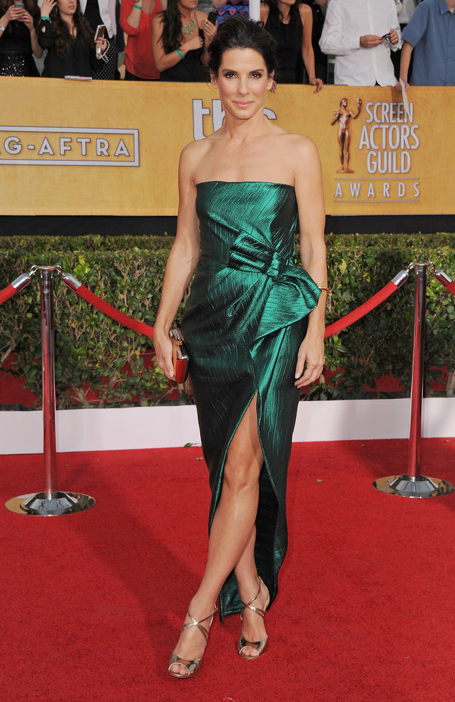 Sandra Bullock at the SAG Awards in Lanvin