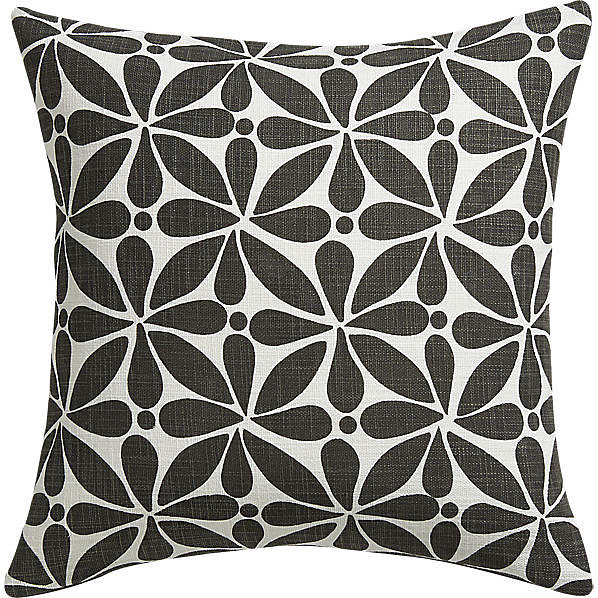 Play with pattern by adding this mod, floral pillow ($25) to your couch.