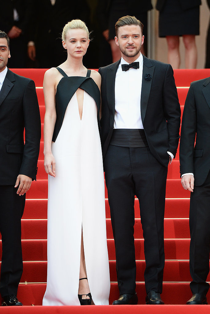 The Inside Llewyn Davis stars looked absolutely stunning in black and white — Carey in Vionnet, Justin's palette was courtesy of Balenciaga.