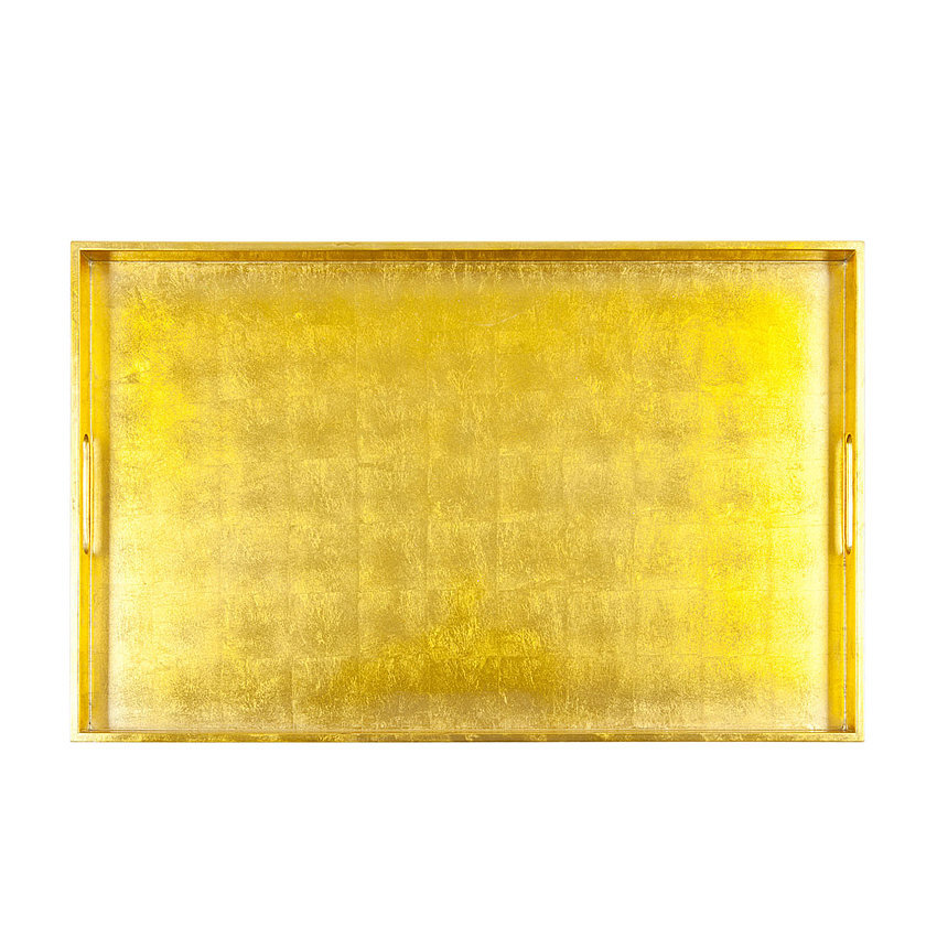 Serve up cocktails on a gold lacquered tray ($80).