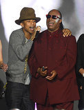 Pharrell also sang with Stevie Wonder.