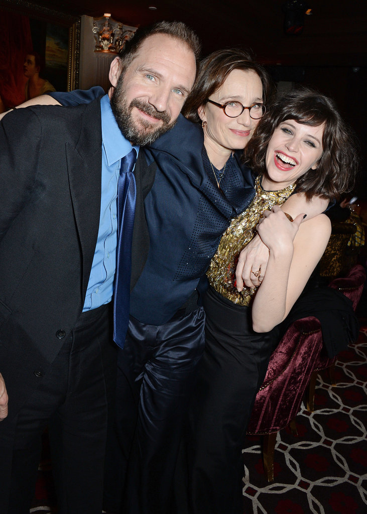 On Monday, Ralph Fiennes, Kristin Scott Thomas, and Felicity Jones had a fun time at the London premiere of The Invisible Woman.