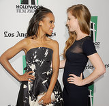 She Strikes Glam Poses With Amy Adams
