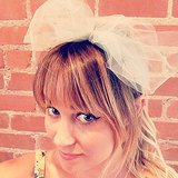 She showed off a sweet bow.