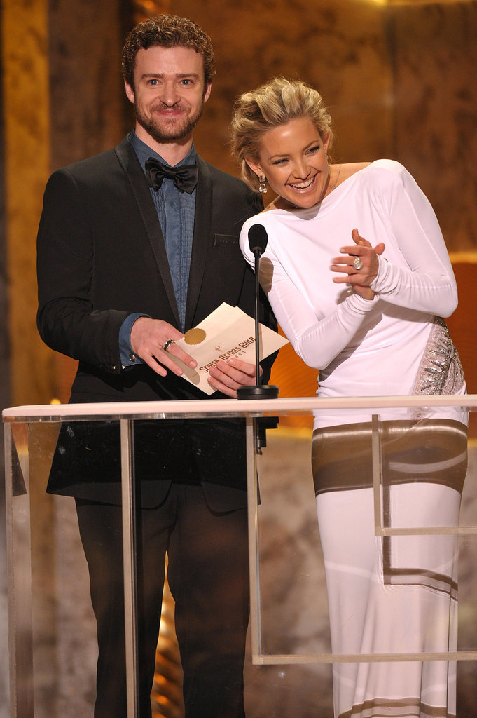 He and Kate Hudson teamed up to present an award at the 2010 SAG Awards in LA.
