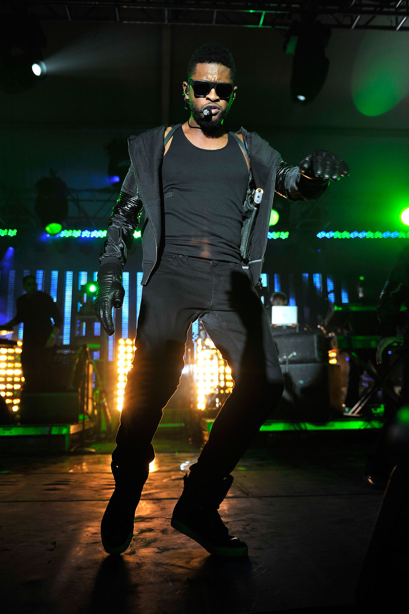 Usher showed off his signature sexy dance moves during a party performance in 2011.