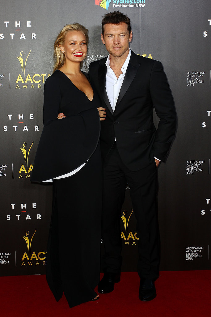 Lara wore a low-cut dress when she attended the AACTA Awards with Sam in Sydney in Jan. 2014.