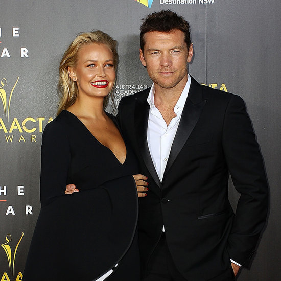 Lara Bingle and Sam Worthington Pics at 2014 AACTA Awards