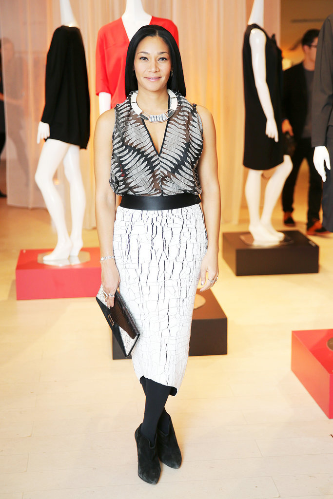Monique Péan at the Barneys cocktail party for Maria Cornejo.