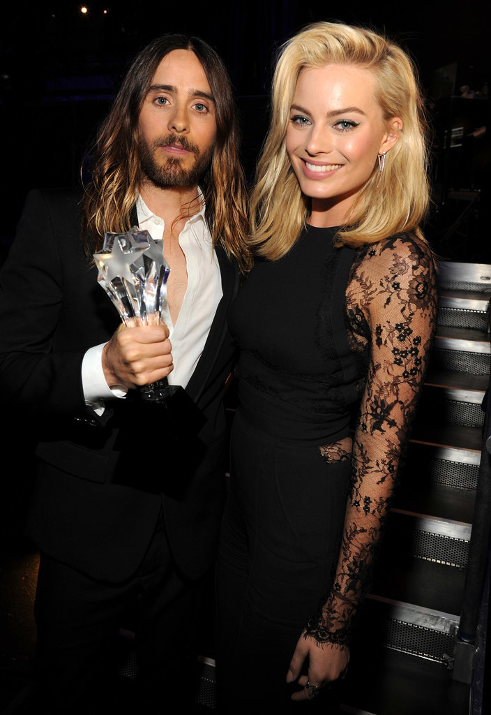 Standing next to Jared put a big smile on Margot Robbie's face during the Critics' Choice Awards.
