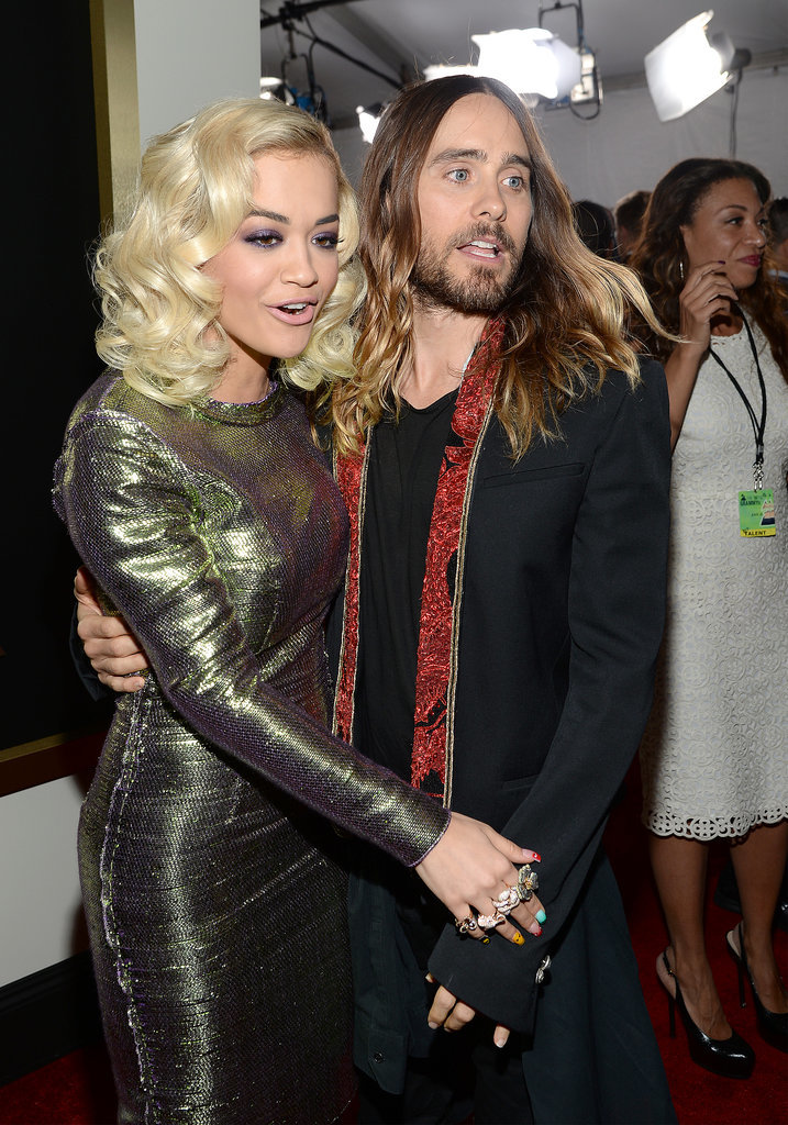 Jared got approached by Rita Ora on the red carpet at the Grammys.