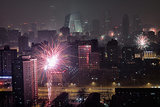 Fireworks lit up the skyline in Beijing, China.