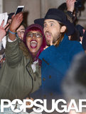 Jared Leto got really excited with his fans at the UK premiere of Dallas Buyers Club.