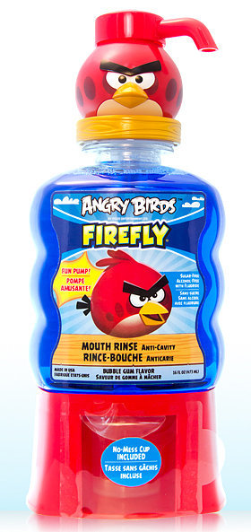 Firefly Angry Birds Anti-Cavity Mouth Rinse