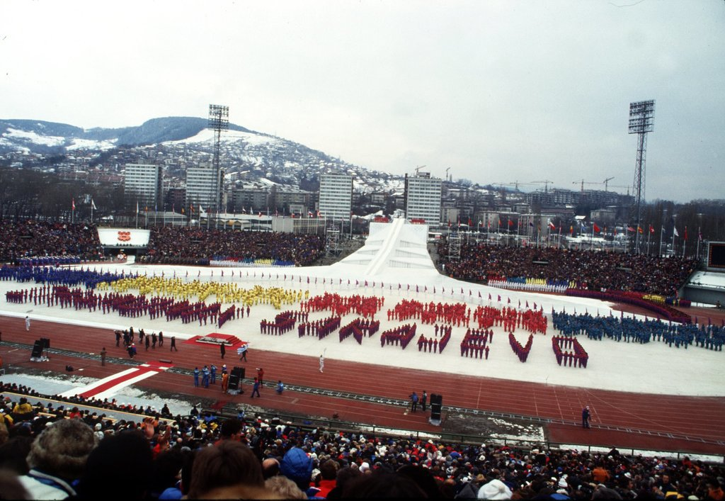In 1984, Sarajevo, Yugoslavia, was all about people spelling out words.