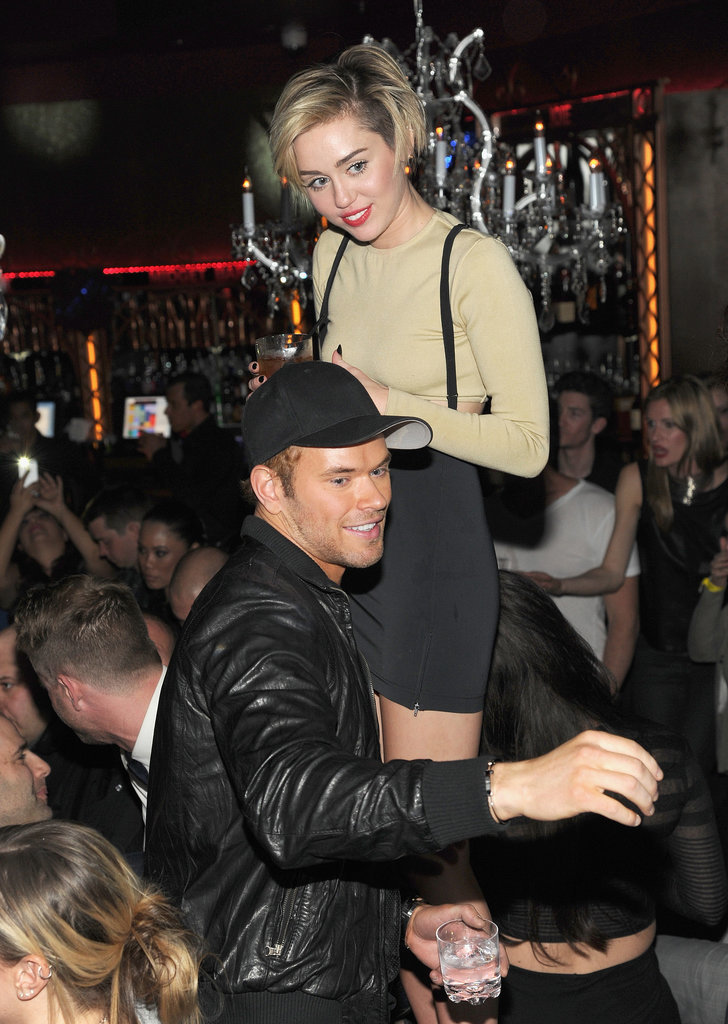 Miley Cyrus and Kellan Lutz partied after the concert.
