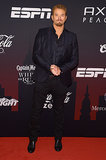 Kellan Lutz wore a dark suit at the ESPN party.