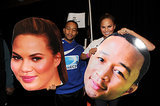 John Legend and Chrissy Teigen Show Us Their Huge Game Faces