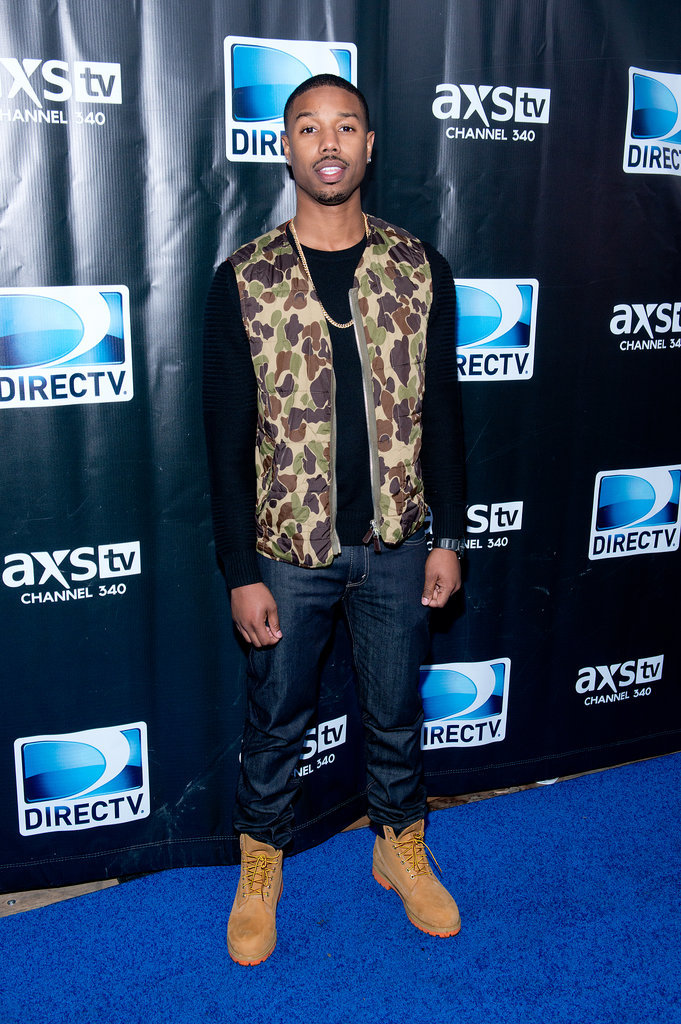 Michael B. Jordan made his way to the DirecTV party.