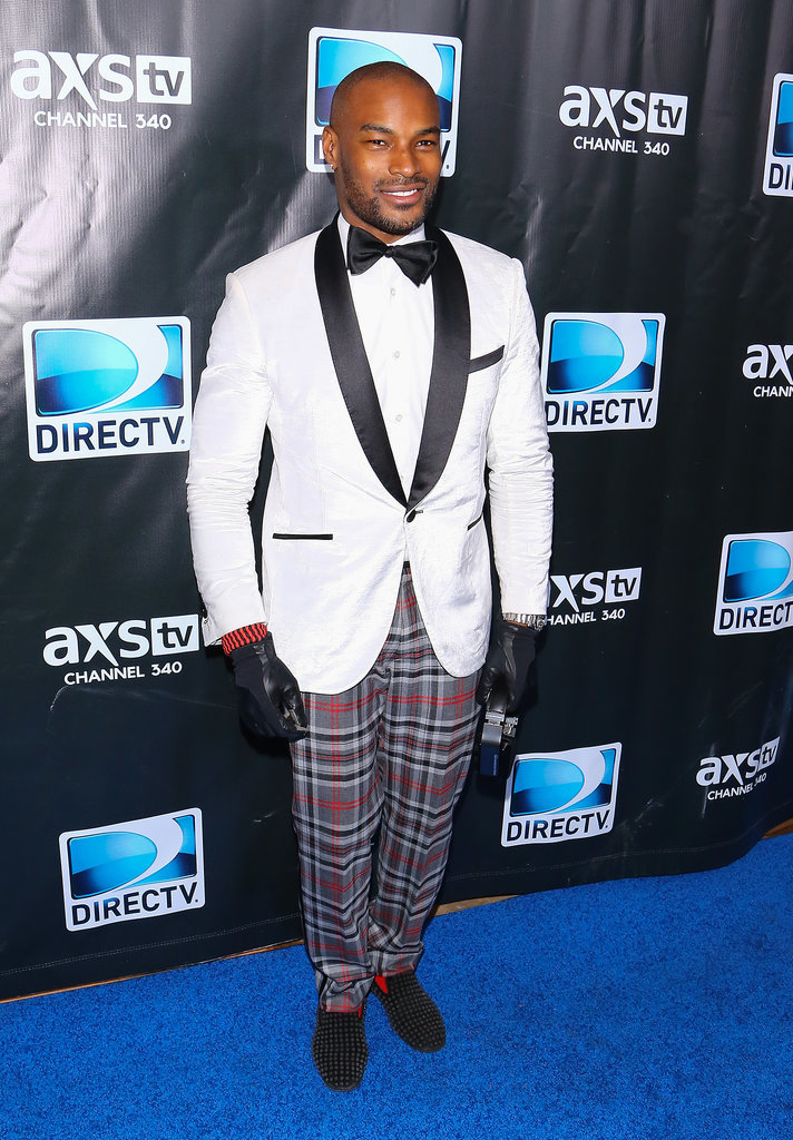 Tyson Beckford opted for an unconventional suit at the DirecTV party.