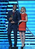 Kate Mara held Victor Cruz's arm as they took center stage at the NFL Honors award show in NYC on Saturday.