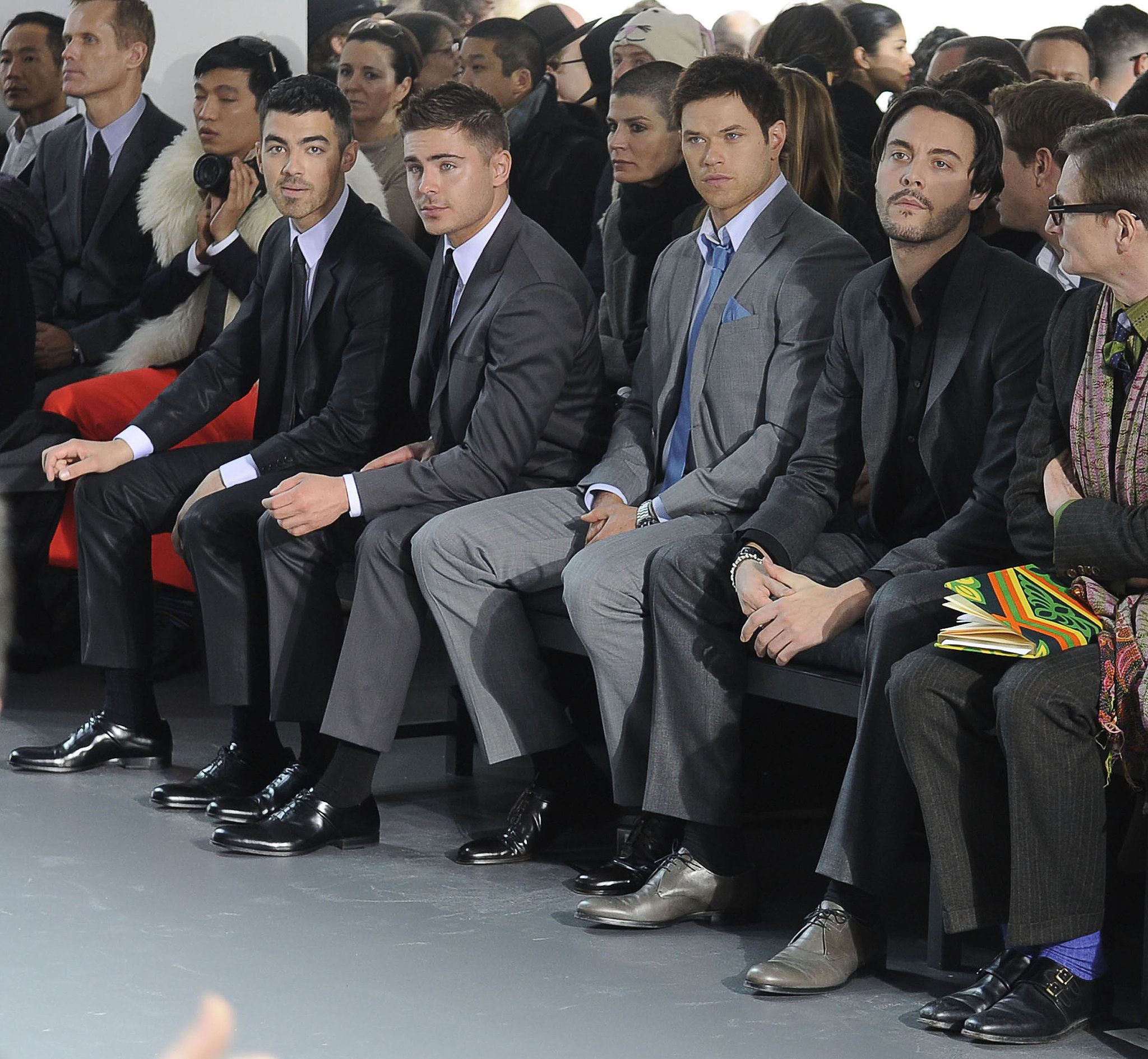 Joe Jonas, Zac Efron, and Kellan Lutz were all dapper at Calvin Klein in September 2011.