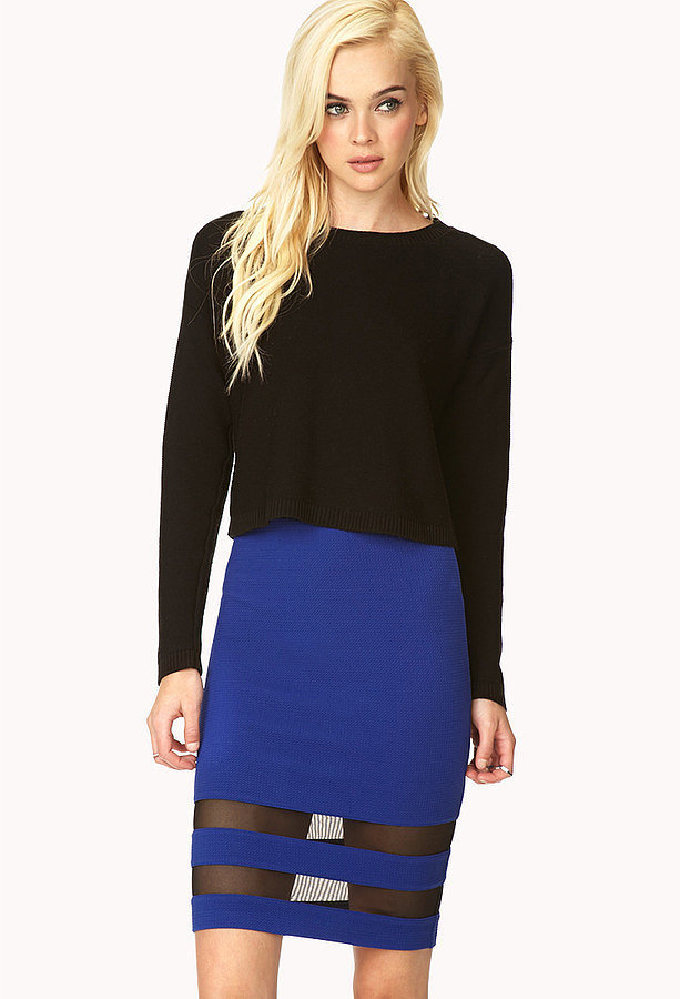 Forever 21 Blue Pencil Skirt