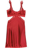 Stella McCartney Red Clara Whispering Silk Chemise