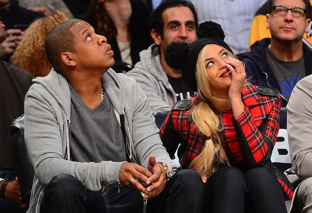 On Monday, Beyoncé and Jay Z sat courtside at a Brooklyn Nets game in NYC.