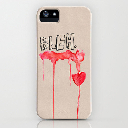 Bleh heart case ($35) for iPhone models and Samsung Galaxy S4