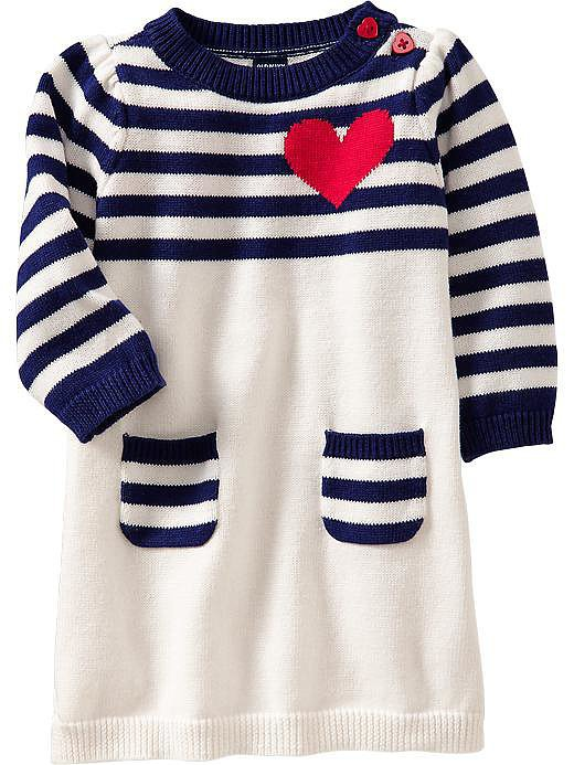 Heart Graphic Sweater Dress
