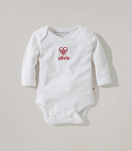 Burt's Bees Baby Be Within My Heart Personalized Bodysuit
