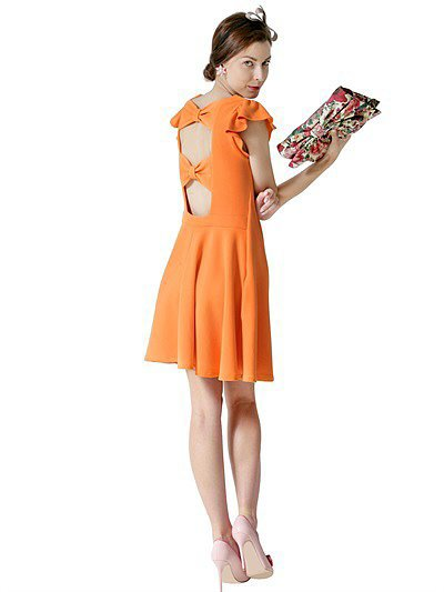 Red Valentino Bow-Back Orange Dress ($575)